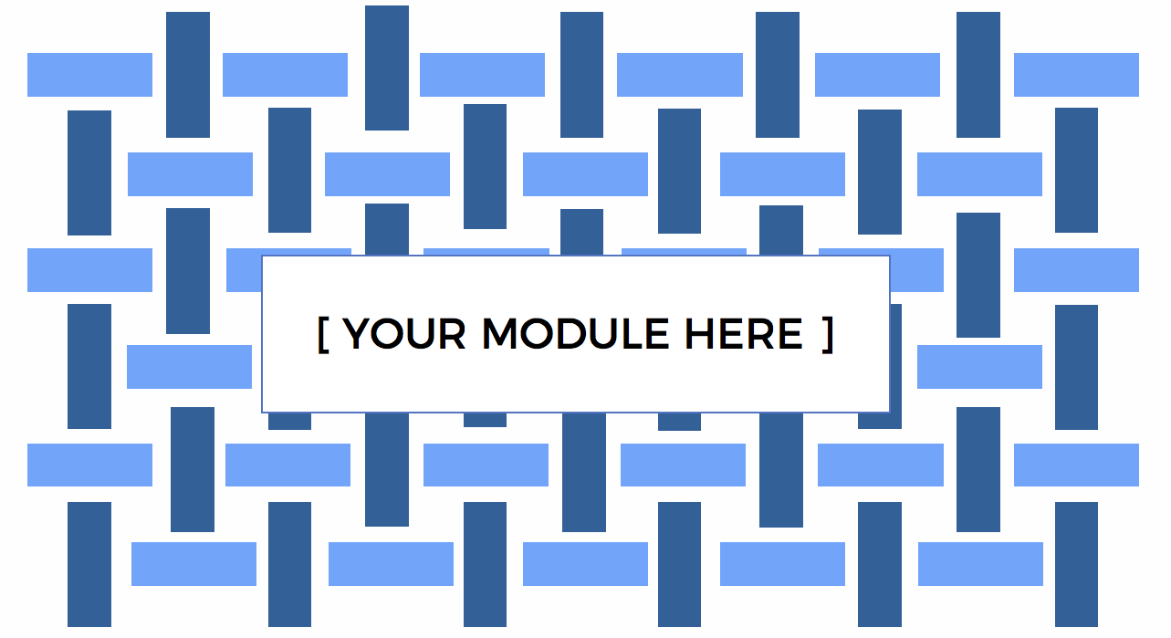 diagram showing your module here in a field of cross-weave